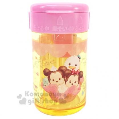 〔小禮堂〕迪士尼TsumTsum 日製圓形單孔削筆器《橘粉.冰淇淋》削鉛筆器.學童文具