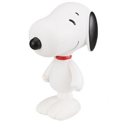 〔小禮堂〕史努比 造型塑膠公仔《黑白.站姿》玩偶.模型.玩具