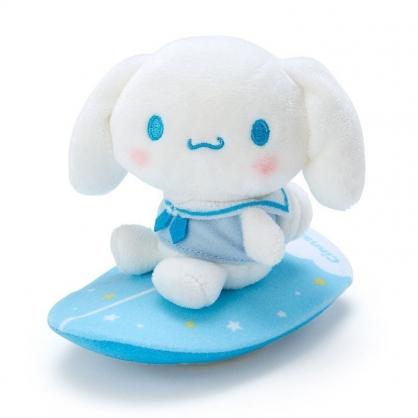 〔小禮堂〕大耳狗 絨毛玩偶娃娃造型迴力車玩具《藍白》擺飾.發條玩具