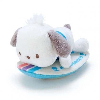 〔小禮堂〕帕恰狗 絨毛玩偶娃娃造型迴力車玩具《藍白》擺飾.發條玩具