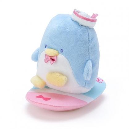 〔小禮堂〕山姆企鵝 絨毛玩偶娃娃造型迴力車玩具《藍粉》擺飾.發條玩具