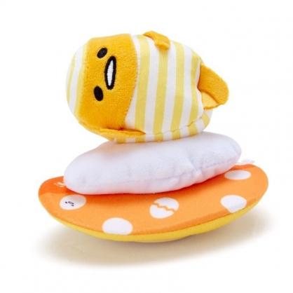 〔小禮堂〕蛋黃哥 絨毛玩偶娃娃造型迴力車玩具《黃橘》擺飾.發條玩具