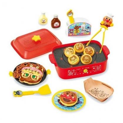 〔小禮堂〕麵包超人 大阪燒章魚燒音樂玩具組《紅黃.廚師裝》扮家家酒.兒童玩具