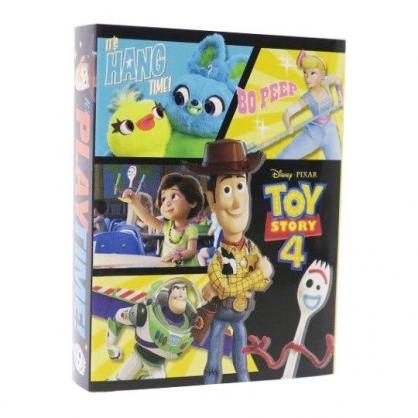 〔小禮堂〕迪士尼 玩具總動員4 日製方形多折便條本《黑黃.格圖》便條紙.留言紙