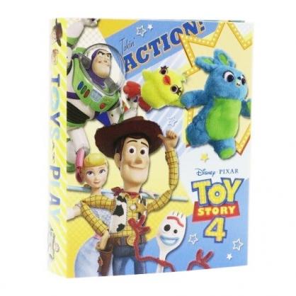 〔小禮堂〕迪士尼 玩具總動員4 日製方形多折便條本《黃藍.推帽子》便條紙.留言紙