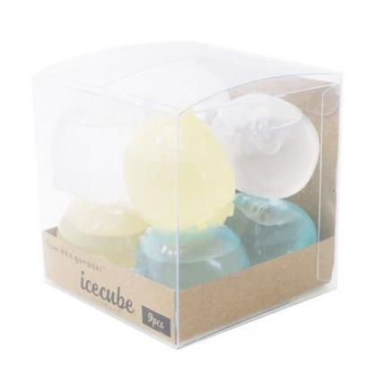 〔小禮堂〕角落生物 造型透明矽膠冰塊組《9入.綠黃》重複使用冰塊.保冰劑