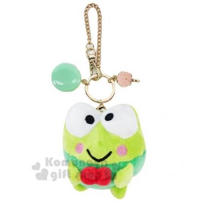 〔小禮堂〕大眼蛙 絨毛玩偶娃娃馬卡龍吊飾《綠》掛飾.鑰匙圈.擺飾