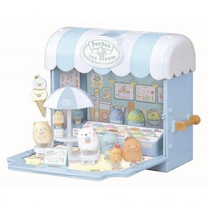 〔小禮堂〕角落生物 模型娃娃屋玩具《淡藍.冰淇淋店》模型.擺飾.公仔