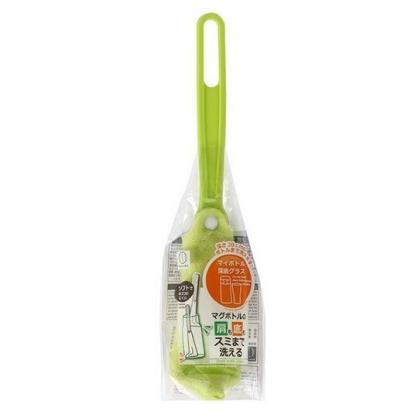 〔小禮堂〕小久保工業所 杯瓶專用直角瓶底刷《綠》水壺刷.水瓶刷