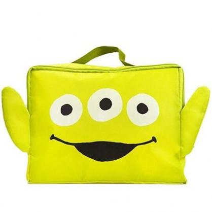 〔小禮堂〕迪士尼 三眼怪 尼龍旅行衣物收納袋《綠.大臉》盥洗袋.收納包