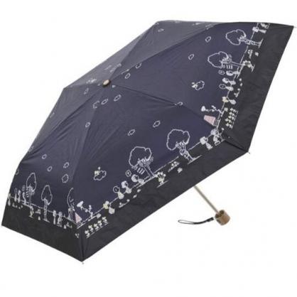 〔小禮堂〕史努比 抗UV折疊雨陽傘《深藍.朋友走路》折傘.雨傘.雨具