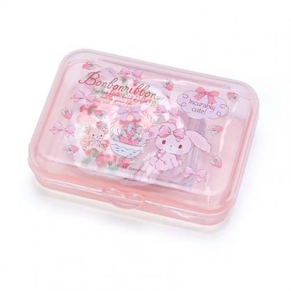 〔小禮堂〕蹦蹦兔 日製造型貼紙組附盒《粉.草莓》40枚入.裝飾貼.黏貼用品