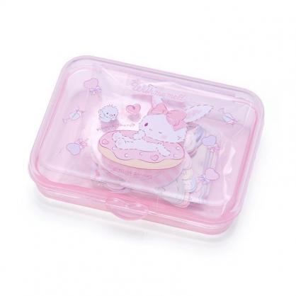 〔小禮堂〕許願兔 日製造型貼紙組附盒《粉.甜甜圈》40枚入.裝飾貼.黏貼用品