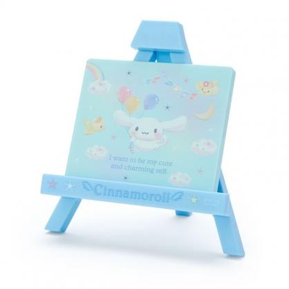 〔小禮堂〕大耳狗 迷你三角書架造型桌上立鏡《藍》桌鏡.手機架