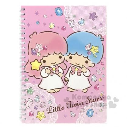 〔小禮堂〕雙子星 左翻線圈橫線筆記本《粉.寶石》記事本.手札.手記