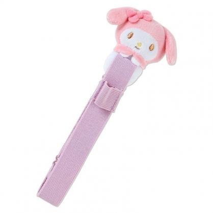 〔小禮堂〕美樂蒂 絨毛玩偶娃娃手帳專用束帶《粉》筆記本束帶.日誌束帶