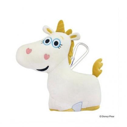 〔小禮堂〕迪士尼 玩具總動員 奶油小馬 可收納充氣絨毛U型頸枕《米黃》充氣枕.午安枕