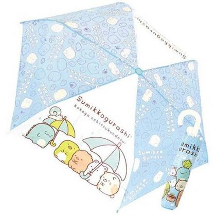 〔小禮堂〕角落生物 彎把防風傘骨折疊傘《藍.看盆栽》折傘.雨具.雨傘
