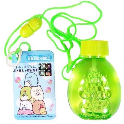 〔小禮堂〕角落生物 掛繩吹泡泡玩具《綠.坐姿》兒童玩具