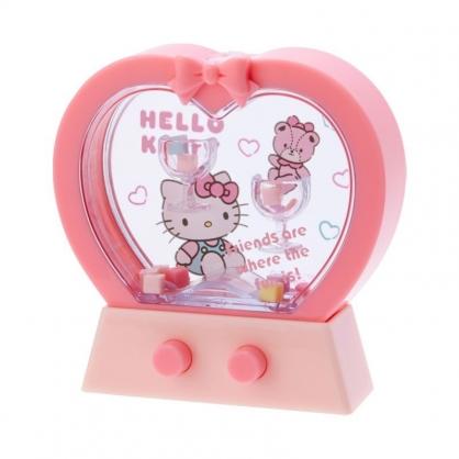 〔小禮堂〕Hello Kitty 愛心造型掌中套圈圈遊戲機《粉》擺飾.兒童玩具