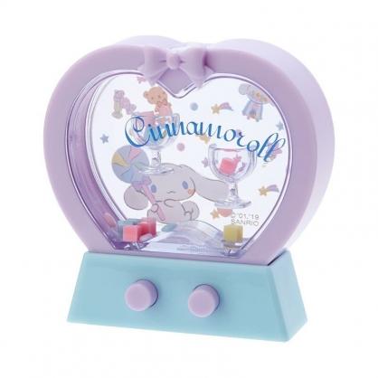 〔小禮堂〕大耳狗 愛心造型掌中套圈圈遊戲機《紫藍》擺飾.兒童玩具