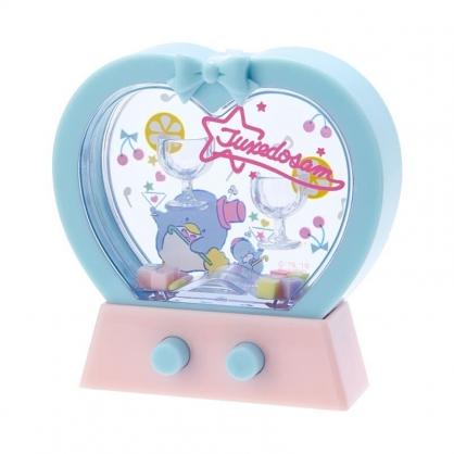 〔小禮堂〕山姆企鵝 愛心造型掌中套圈圈遊戲機《藍粉》擺飾.兒童玩具