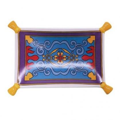 〔小禮堂〕迪士尼 阿拉丁 迷你魔毯造型陶瓷盤《紫藍》醬料碟.小菜碟.飾品盤