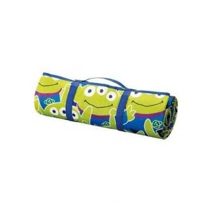 〔小禮堂〕迪士尼 三眼怪 攜帶式折疊手提野餐墊《綠藍.滿版》140x200cm.海灘墊.遊戲墊