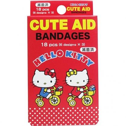 〔小禮堂〕Hello Kitty 日製盒裝OK蹦組《黃紅.mimmy》18枚入.繃帶.貼布