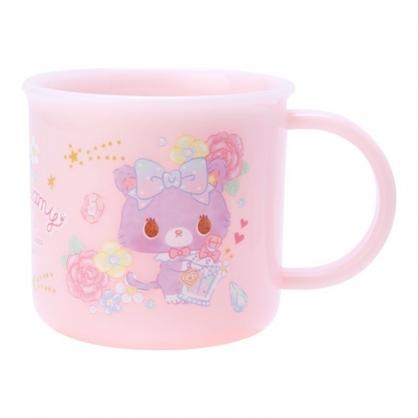 〔小禮堂〕甜夢貓 日製單耳塑膠小水杯《粉.香水瓶》200ml.漱口杯.茶杯