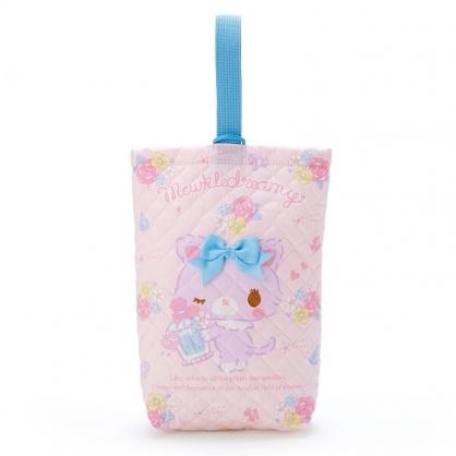 〔小禮堂〕甜夢貓 日製菱格紋厚棉鞋袋《粉紫.香水瓶》收納袋.手提袋