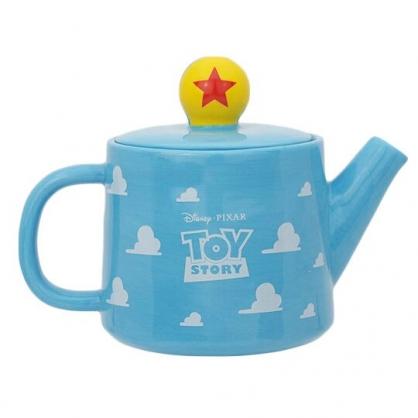〔小禮堂〕迪士尼 玩具總動員 造型陶瓷茶壺《藍白.雲朵》380ml.水壺.咖啡壺