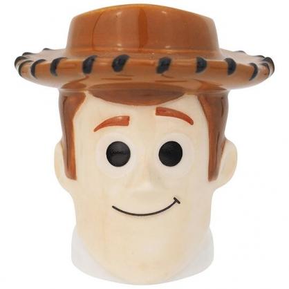 〔小禮堂〕迪士尼 玩具總動員 胡迪 迷你造型陶瓷牙刷架《棕.大臉》筆架.置物架