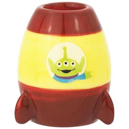 〔小禮堂〕迪士尼 三眼怪 迷你造型陶瓷牙刷架《黃紅.火箭》筆架.置物架