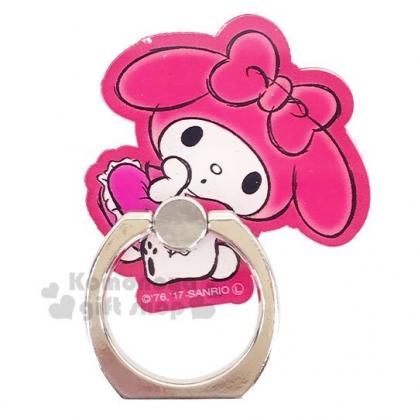 〔小禮堂〕美樂蒂 造型壓克力手機指環架《紅.撐臉》手機立架.指環扣