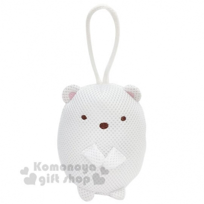〔小禮堂〕角落生物 北極熊 全身造型身體沐浴澡棉《白》洗澡海棉.搓澡巾