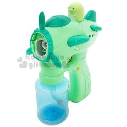 〔小禮堂〕角落生物 企鵝 玩具槍造型吹泡泡玩具組《綠藍》泡泡槍.兒童玩具