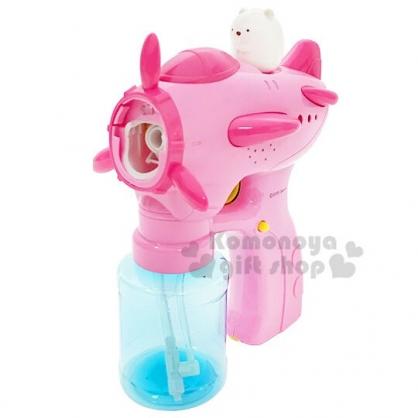 〔小禮堂〕角落生物 北極熊 玩具槍造型吹泡泡玩具組《粉白》泡泡槍.兒童玩具