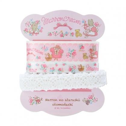 〔小禮堂〕兔媽媽 蕾絲緞帶組《3入.粉白》裝飾綁繩.包裝禮物.玫瑰甜心系列