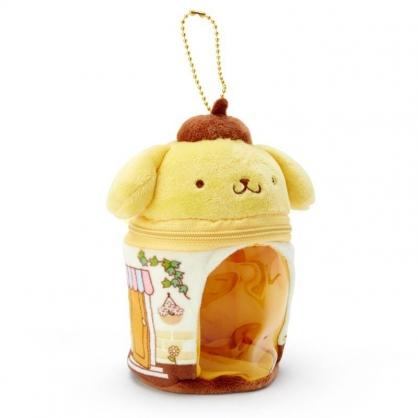 〔小禮堂〕布丁狗 迷你造型絨毛玩偶娃娃屋《黃棕》掛飾.收納包.絨毛收納盒