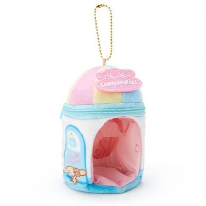 〔小禮堂〕大耳狗 迷你造型絨毛玩偶娃娃屋《藍白》掛飾.收納包.絨毛收納盒