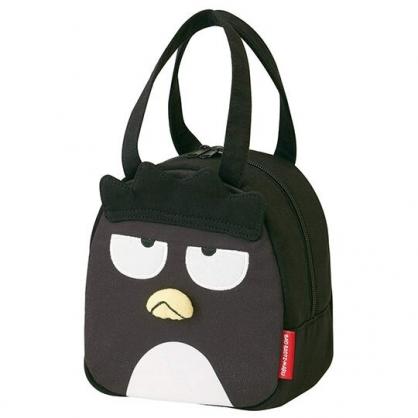 〔小禮堂〕酷企鵝 迷你造型棉質手提袋《黑.全身》便當袋.外出袋