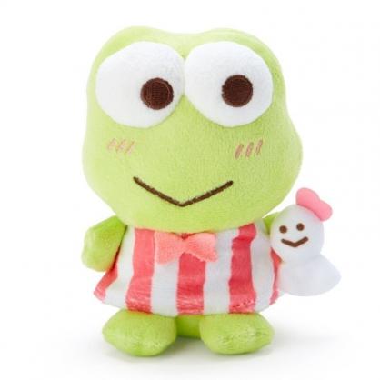 〔小禮堂〕大眼蛙 絨毛玩偶娃娃《S.綠紅.抱玩偶》擺飾.玩具