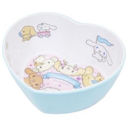 〔小禮堂〕大耳狗 愛心造型美耐皿碗《藍白.朋友》飯碗.塑膠碗