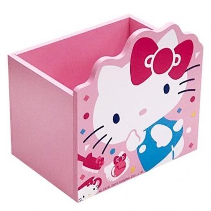 〔小禮堂〕Hello Kitty 造型木製筆筒收納盒《粉.45週年》刷具筒.置物盒