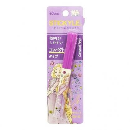 〔小禮堂〕迪士尼 長髮公主 筆型攜帶式剪刀《紫.閉眼》事務剪.事務用品