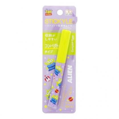 〔小禮堂〕迪士尼 三眼怪 筆型攜帶式剪刀《綠紫.火箭》事務剪.事務用品