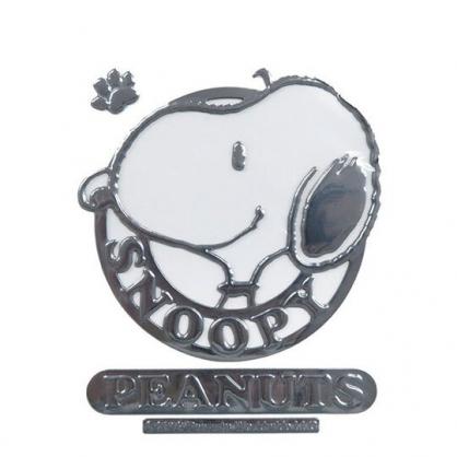 〔小禮堂〕史努比 車用造型裝飾貼《銀.側臉》壁貼.反光貼紙