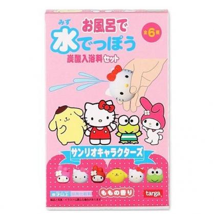 〔小禮堂〕Sanrio大集合 造型入浴球《6款隨機.粉.大臉》入浴劑.泡澡球