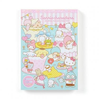 〔小禮堂〕Sanrio大集合 日製便條本《粉綠.杯子裡》便條紙.留言紙